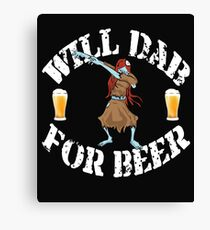 Funny Halloween Dabbing Zombie Beer Lovers Costume Collection Dabbing For Beer - Female Zombie Canvas Print