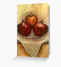 ripe pomegranate  Greeting Card