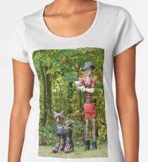 Woman and Dog Women's Premium T-Shirt
