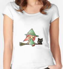 Celya and Lela flying Women's Fitted Scoop T-Shirt
