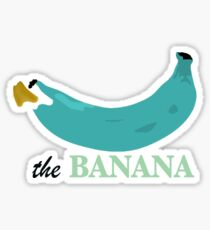 modern wall clock decoration the banane clock Sticker