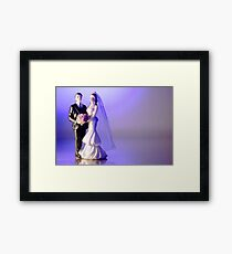 Standard figure of bride and groom Framed Print