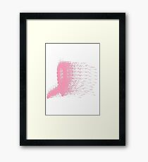 Brush Breast Cancer ribbon  Framed Print