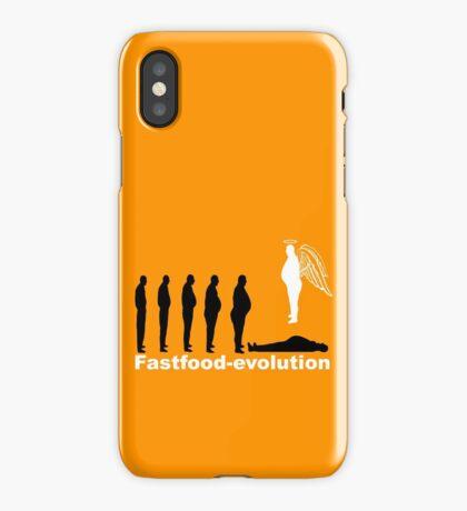 Fastfood evolution iPhone Case/Skin