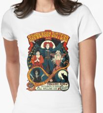 Sanderson Sisters -Tour Poster Women's Fitted T-Shirt
