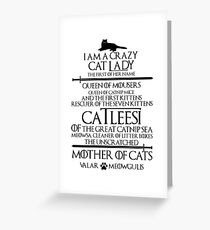 Mother Of Cats. Catleesi  Greeting Card