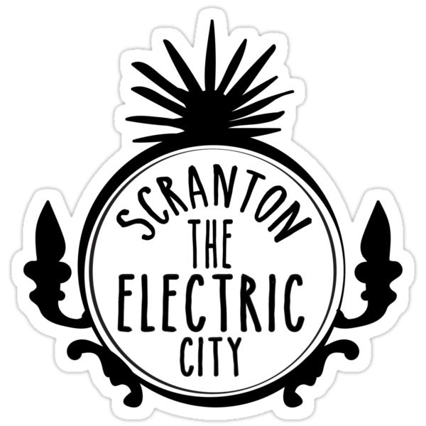 """""""scranton electric city"""" stickersmaci roos  redbubble"""