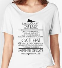 Mother Of Cats. Catleesi Funny Cat Lovers Gift for Women Women's Relaxed Fit T-Shirt