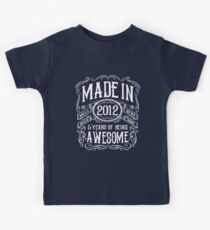 5th Birthday Gift T-Shirt Made In 2012 Awesome Kids Clothes
