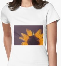 Sunflower Detail Women's Fitted T-Shirt