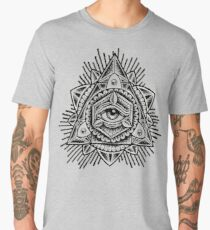 Sacred Trinity Eye BW Men's Premium T-Shirt
