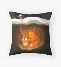 Snowy Rooftops Throw Pillow
