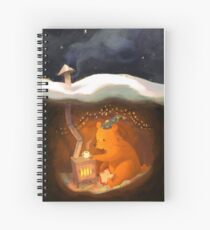 Snowy Rooftops Spiral Notebook