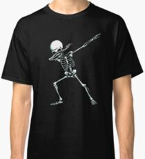 Dabbing Skeleton T-Shirt Dab Hip Hop Skull Shirts Kids Adult  Classic T-Shirt