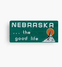Nebraska. . .the good life! NE shirt: #nebraskalove Canvas Print