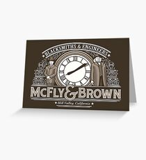 McFly and Brown Greeting Card