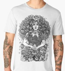 Divine Mother Gea Tree / BW Men's Premium T-Shirt