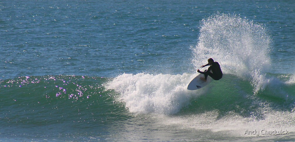 Midday surfer by Andy Chadwick