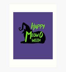 Happy MeowOween Halloween Cat Art Print