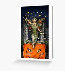 Halloween Angel - Trick Or Tarot Greeting Card