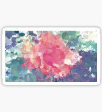 Oil Paint Pink Flower Sticker