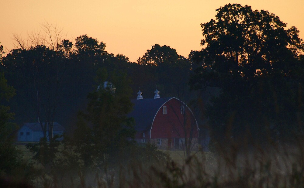 Farm Sunrise by babyangel