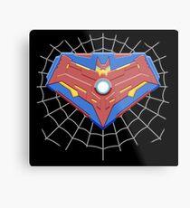 Superspiderbatiron-man Comicbook Superhero Logo Metal Print