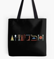 Ancient Egyptian Hieroglyphic Life Prosperity Health Blessing on Black Tote Bag