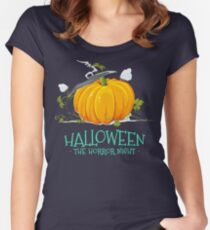 HALLOWEEN THE HORROR NIGHT Women's Fitted Scoop T-Shirt