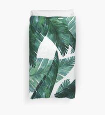 Blue-green banana leaves. Duvet Cover
