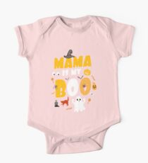 Mama Is My Boo Funny Halloween Humor Pun Gift Kids Clothes
