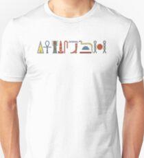 Ancient Egyptian Hieroglyphic Life Prosperity Health Blessing on Black T-Shirt