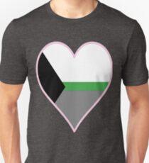 DemiRomantic Flag Heart - Pastel Pink T-Shirt