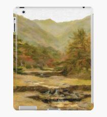 Oil Painting; Mountain View at Yoro Waterfall in Gifu, Japan, November, 2016 iPad Case/Skin
