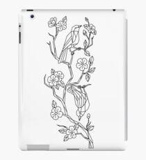 Birds on Branch of Sakura Cherry Blossoms Low Poly iPad Case/Skin