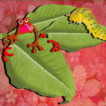 RED FROG - RedFrog with Caterpillar 2 by Kartoon