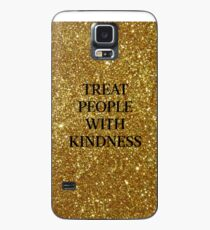 Treat People With Kindness (Gold) Case/Skin for Samsung Galaxy