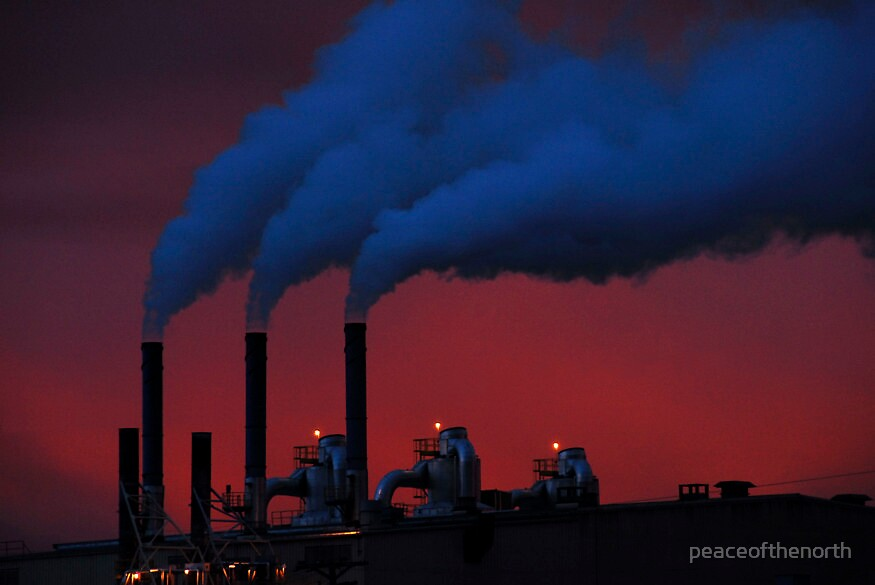 Industry at dawn by peaceofthenorth