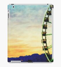 Oil Painting; Detail And Silhouette of Ferris Wheel with Sun Set iPad Case/Skin