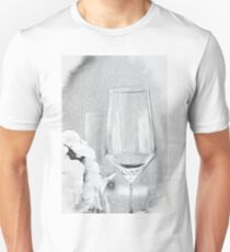 Charcoal Drawing; Party Setting with Bokeh Background T-Shirt