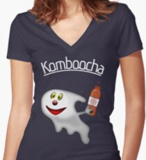 KomBOOcha Women's Fitted V-Neck T-Shirt