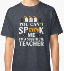 Halloween Funny Substitute Teacher Costume Pumpkins Classic T-Shirt