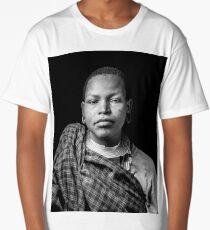 Young tribal woman Long T-Shirt