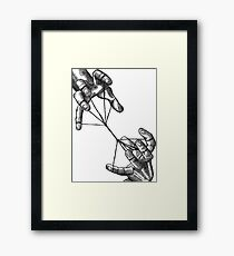 Two Hands with String Framed Print