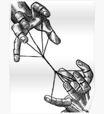 Two Hands with String Poster