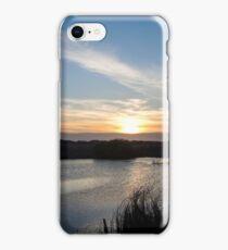 Breathtaking sunset in Danube Delta, Romania, in a summer day iPhone Case/Skin