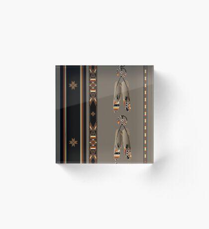 Lakota Design Acrylic Block