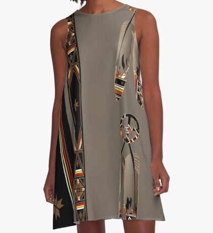 Lakota Design A-Line Dress
