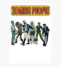 Village Zombies - Spoof Horror 1970s Camp Music Band Photographic Print