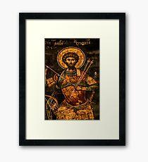 Alte Malerei im Snagov-Kloster, Rumänien - Veleda Thorsson Fotografie Gerahmtes Wandbild